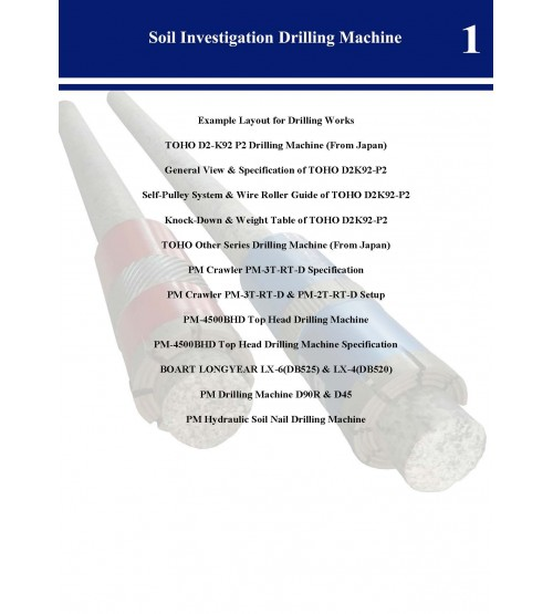 Full Soil Investigation Drilling Machine Catalogue
