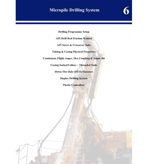Micropile Drilling System Catalog